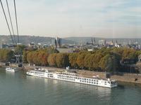 Blick auf Koblenz und den Rhein