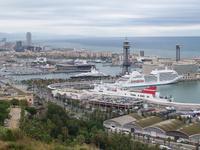 Blick vom Aussichtspunkt Montjuic