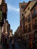Geschäftsgasse in Toledo