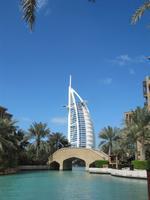 Dubai Blick vom Madinat Souk zum Burj al Arab