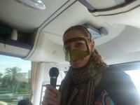 Reiseleiterin Anja mit der Borka