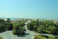 Blick aus der Monorail auf der Palmeninsel Jumeirah