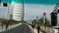 Herzlicher Empfang bei der Vorfahrt am Burj Al Arab