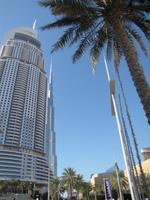 The Adress Hotel mit Burj Khalifa im Hintergrund