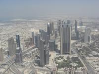 Blick aud die Skyline von Dubai
