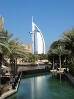 Souk Madinat in Dubai mit Blick auf das