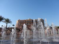 Wasserspiele vor dem Emirates Palace Hotel Abu Dhabi