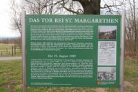 Fall des Eisernen Vorhangs in St. Margarethen