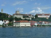 Blick vom Schiff auf Meersburg