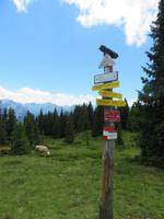 Wegweiser zur Schmittenhöhe