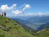 Hoch oben in den Bergen