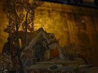 Schmuckvorhang der Oper in Wien