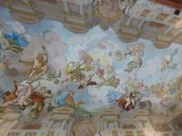 Marmorsaal Stift Melk_Deckenfresko von Paul Troger