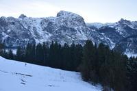 078 Abtenau, Blick auf das Tennengebirge mit Grießkogel, Großem Breitstein und Plattenstein