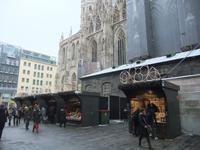 Auch am Stephansdom gibt es einen Weihnachtsmarkt