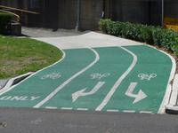 Fahrbahnregelung für Radfahrer in Sydney