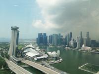 Aussicht aus dem Singapur Flyer