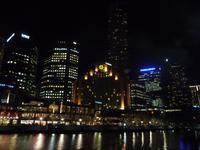 Melbourne - Nacht am Yarra River