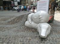 in Antwerpen vor der Kathedrale