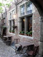 romantische Winkel in Antwerpen