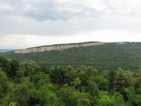 malerische Landschaft am Peobraschenski-Kloster