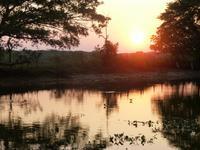 Sonnenuntergang während der Jeepsafari