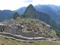 Auf dem Machu Picchu in Peru