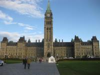 Ottawa - Parlamentsgebäude am Morgen