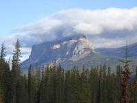 Blick auf den Castle Mountain
