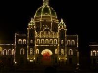 Parlamentsgebäude in Victoria - Beleuchtung am Abend
