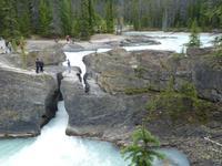 0020 Kicking Horse River mit natürlicher Brücke