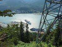 Blick auf den Hafen von Juneau