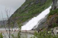 Nugget Falls am Mendenhall Gletscher