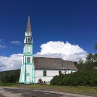 Die alte Holzkirche bei Stuart Lake