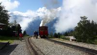 Fahrt auf das Brienzer Rothorn (Station Planalp)