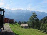 Fahrt mit der Brienzer Rothornbahn - Blick auf den Brienzersee
