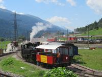 Fahrt mit der Furka-Dampfbahn - in Oberwald