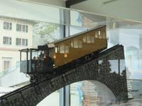 Ausflug auf den Pilatus - Modell der ersten Zahnradbahn