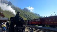 Furka-Dampfbahn, Fahrt von Realp nach Oberwald