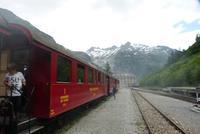 Blick von Gletsch zum Rhonegletscher