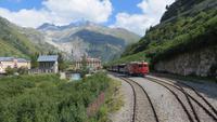 129 Fahrt mit der Furka-Dampfbahn - Gletsch