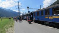 140 Fahrt mit der Furka-Dampfbahn - Ankunft in Oberwald