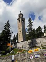 Engadin-Rundfahrt (Schiefer Turm in St. Moritz)