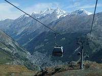 Fahrt hinunter nach Zermatt