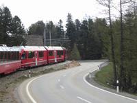 Bernina Express auf den Weg nach Tirano
