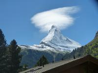 Blick vom Hotel zum Matterhorn