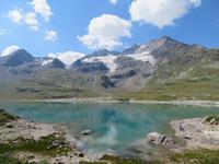 Fahrt mit dem Bernina-Express - am Lago Bianco
