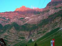 Alpenglühen am Säntis