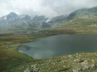 Der Schwarze See auf dem Berninapass...