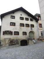 Glacier-Bernina-Reise, Ausflug ins Engadin, Besuch im Engadiner Dorf Guarda